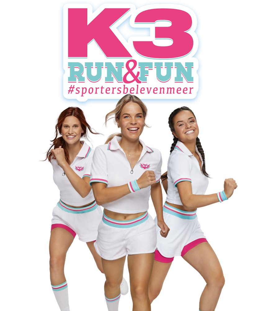 Schrijf je in voor de K3 RUN & FUN!