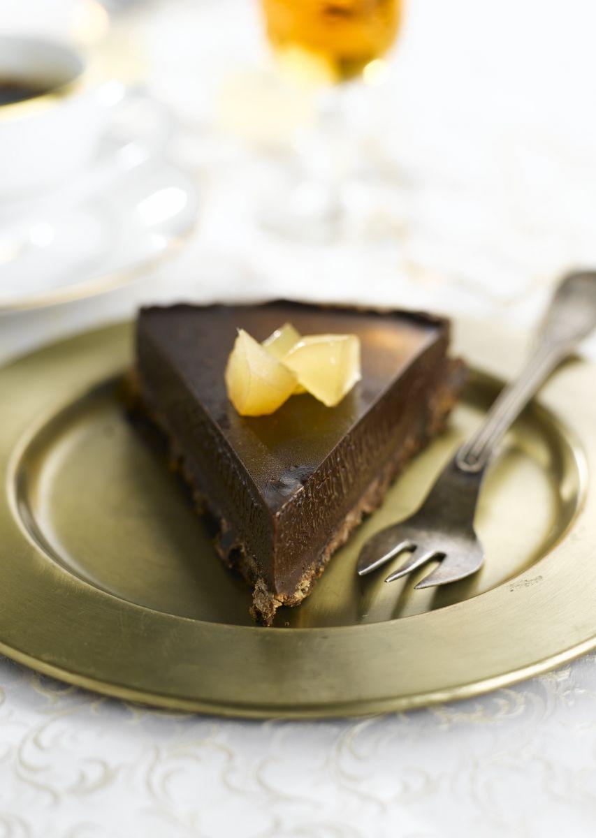 Chocoladetaart met gember