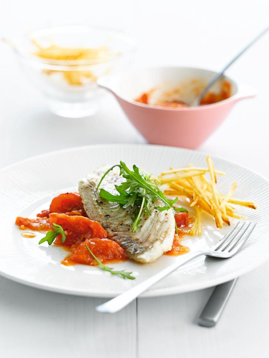 Tarbot met compote van tomaten