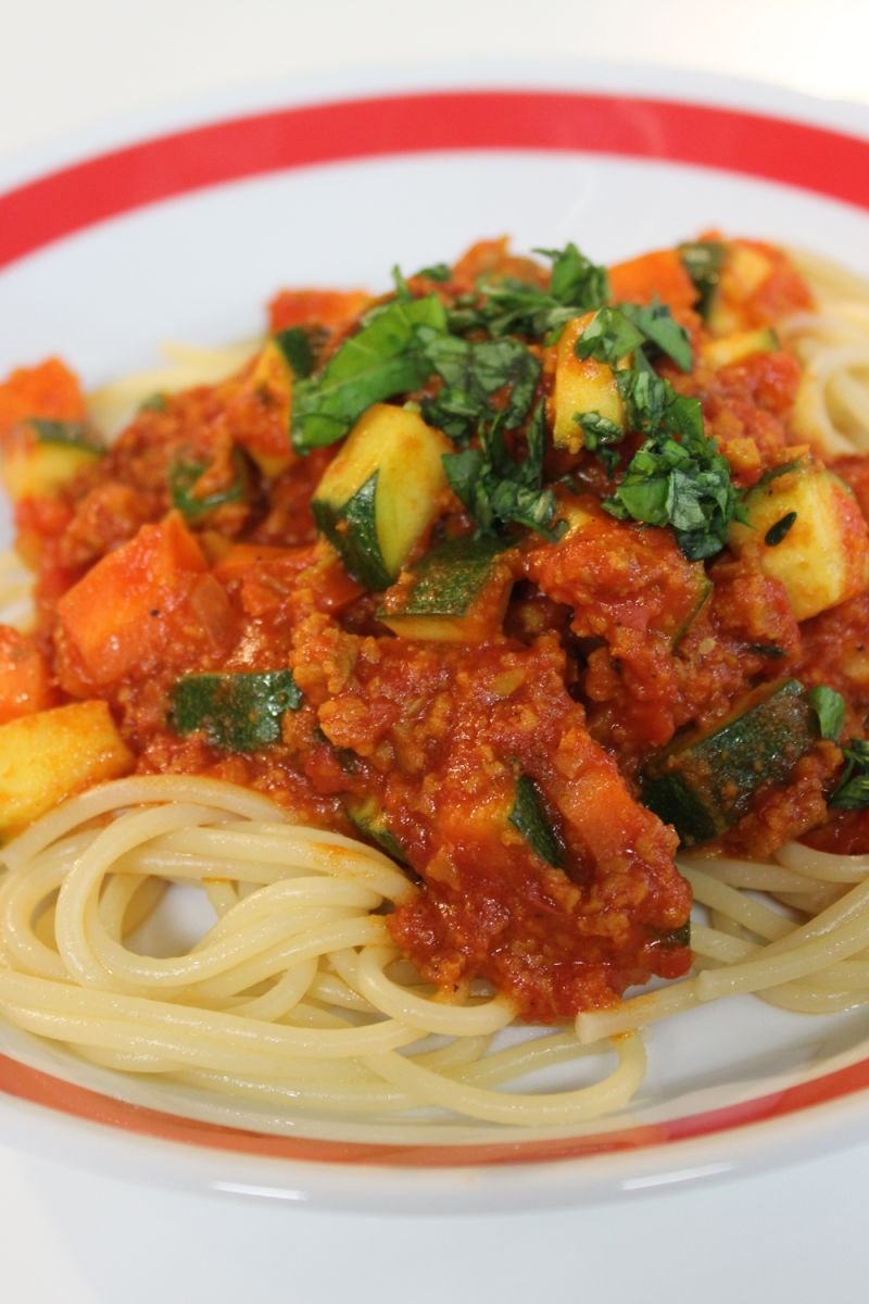 Spaghetti met seitan