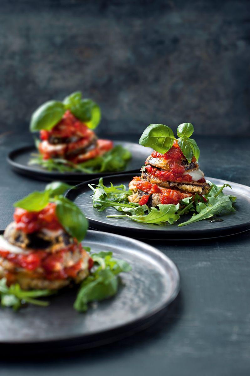 Lasagnetorentje van aubergine