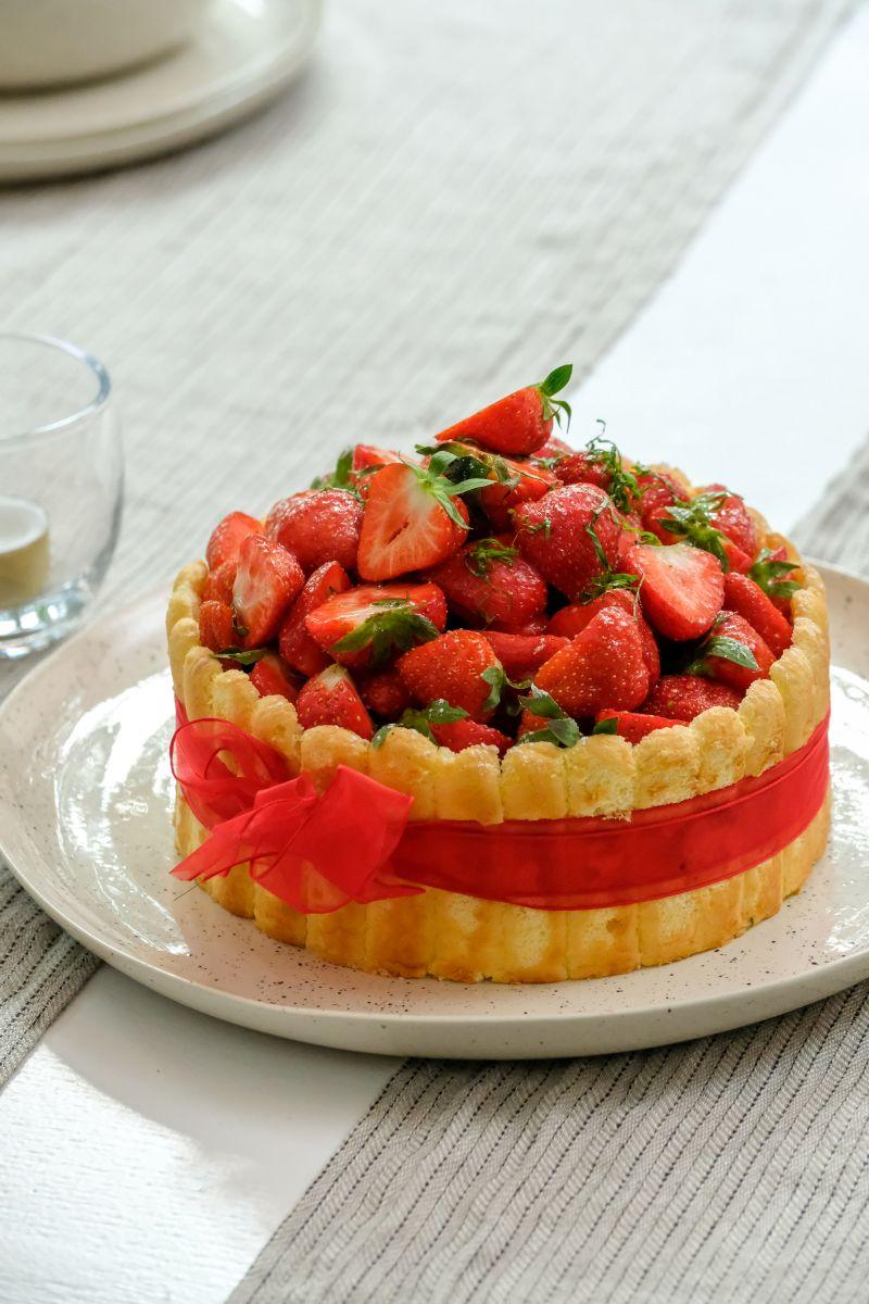 Charlotte van aardbeien