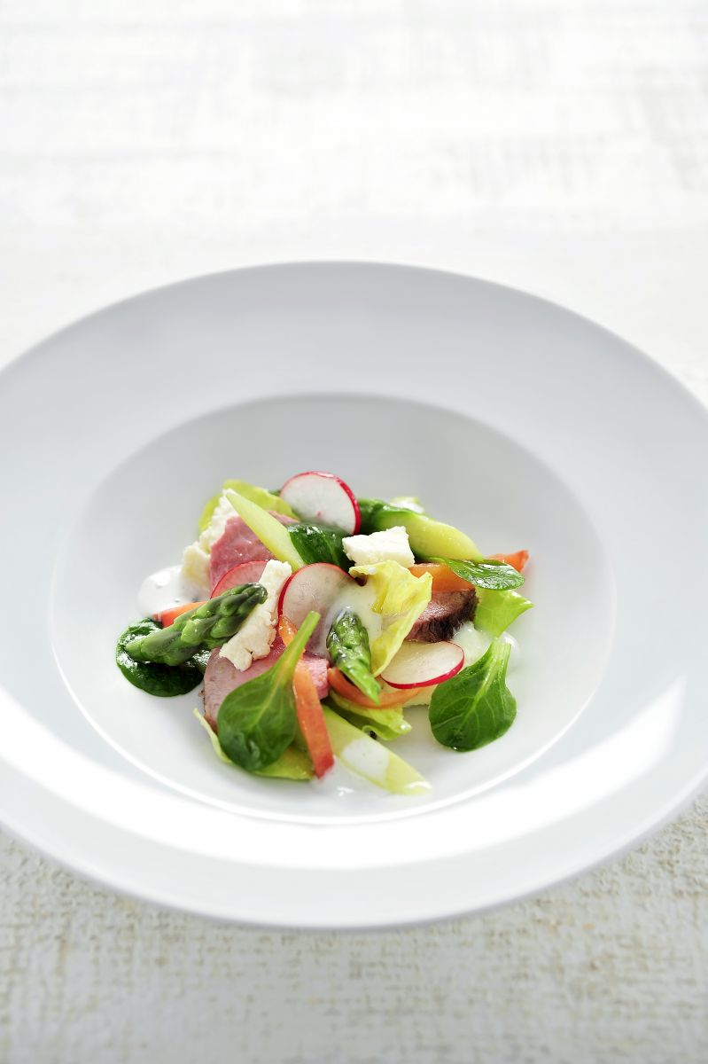 Salade met lamsbout en Crottin de Chavignol
