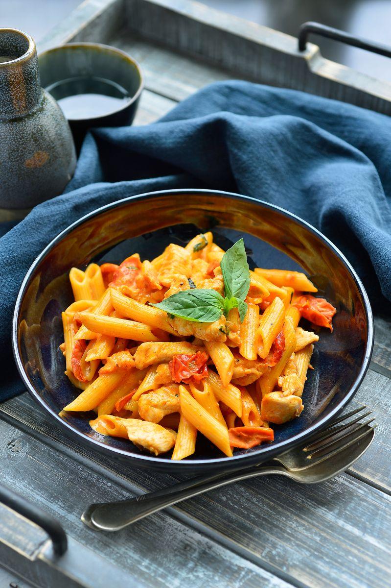 recept kip pasta tomaat