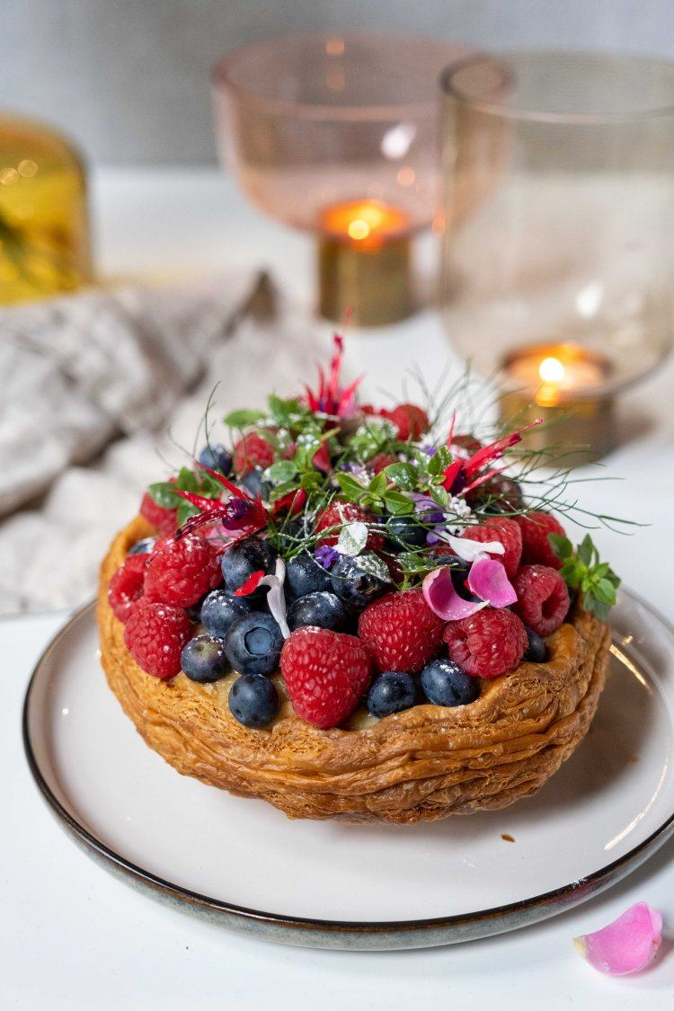 Rabarber-puddingtaart