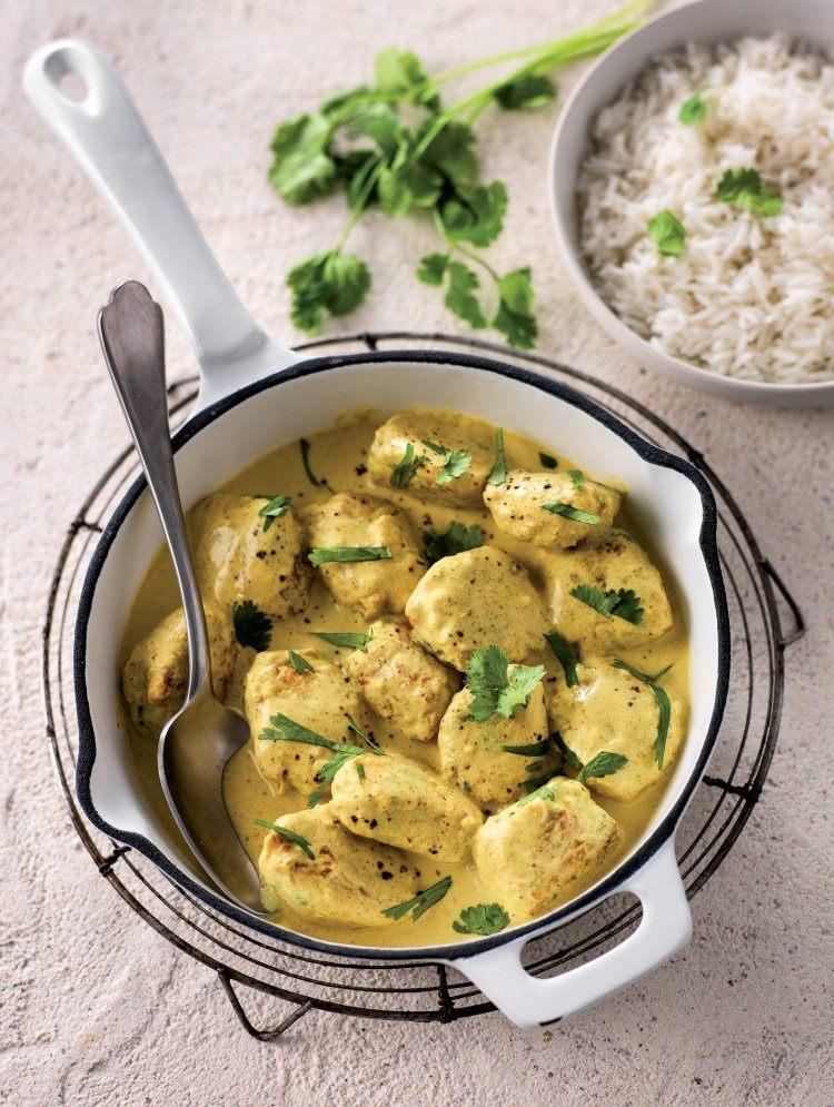 Kippengehaktballetjes met curry