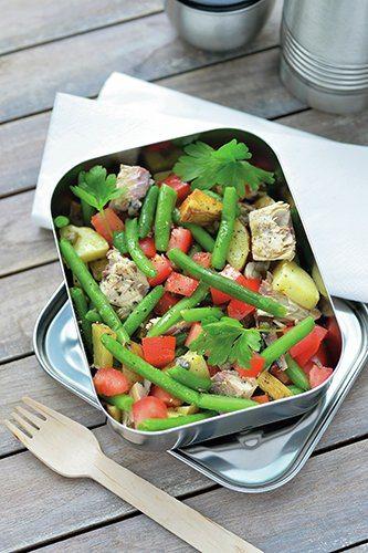 Salade niçoise met makreel