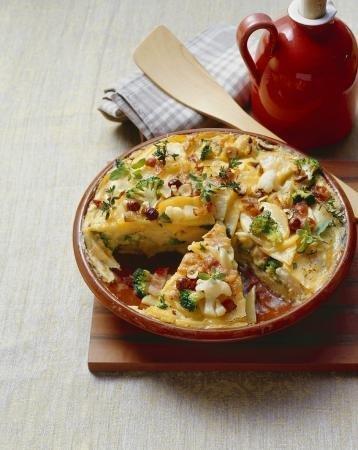 Tortilla met wintergroenten