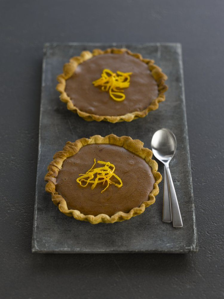 Chocoladetaartjes met appelsien
