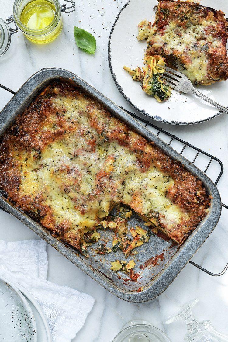 Easy veggie lasagne