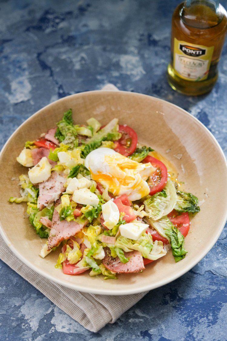 Salade carbonara