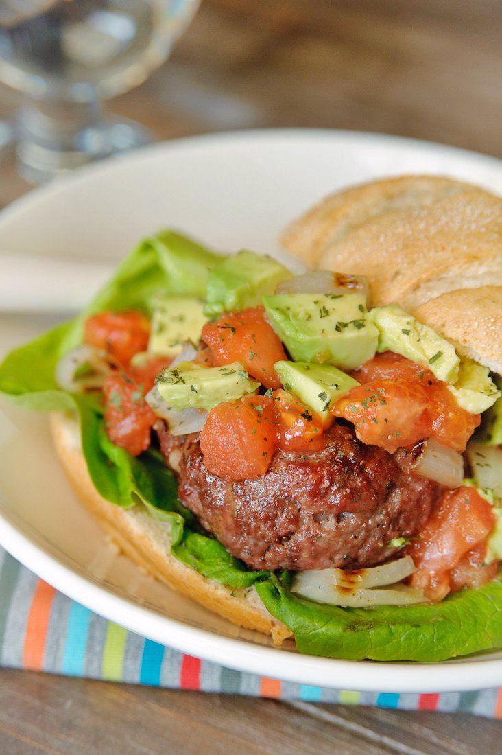 Broodje gevulde hamburger