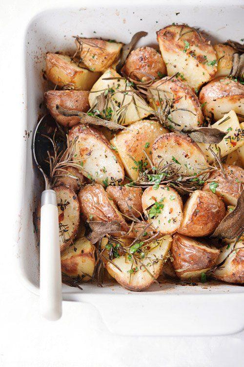 Krokant geroosterde aardappelen