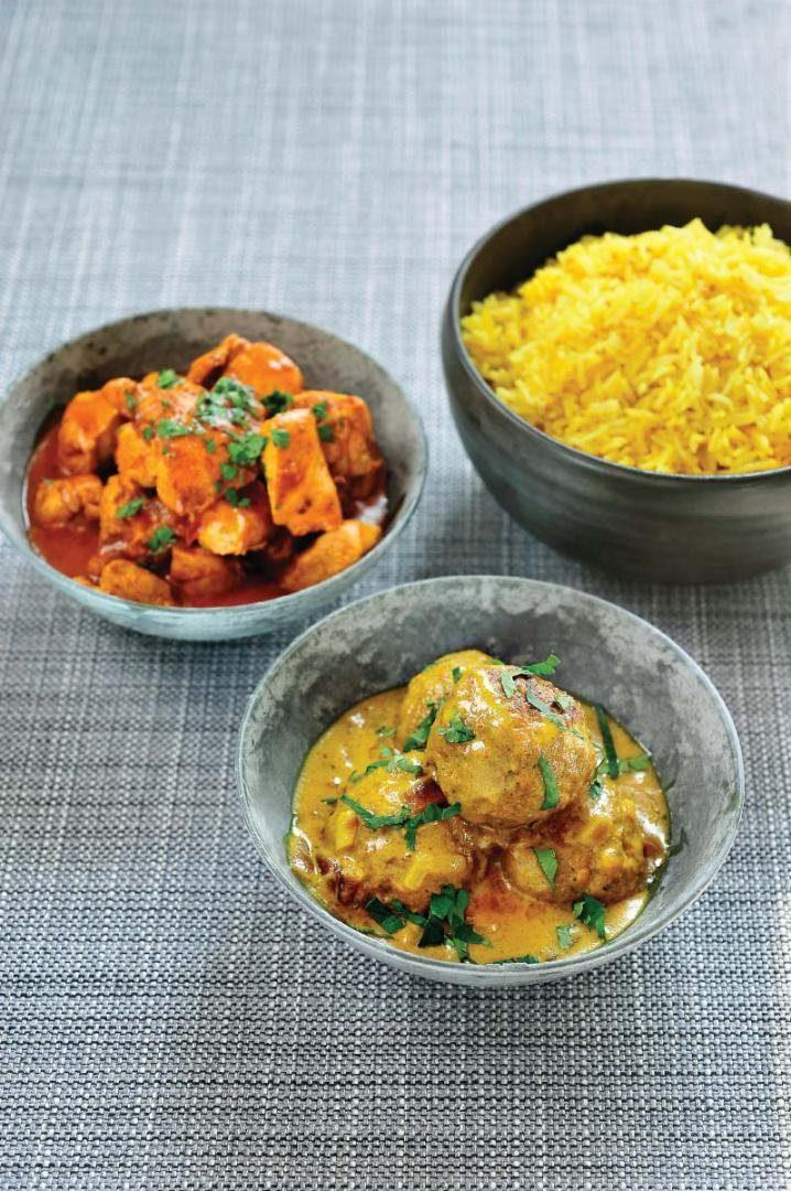 Zachte gele curry met lamsvlees en citroenrijst