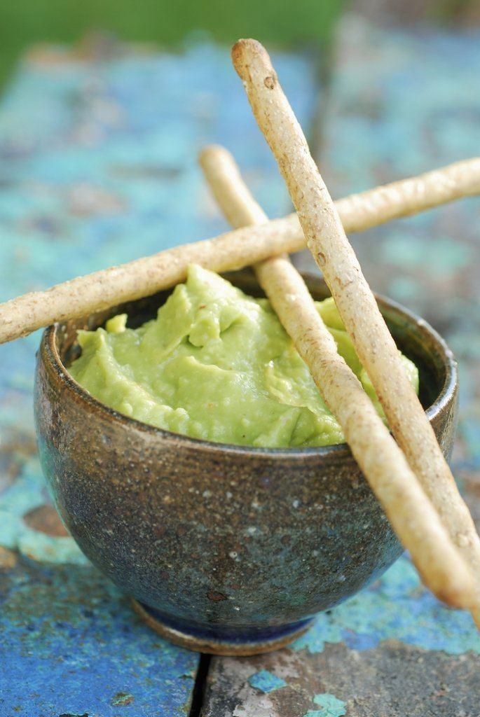 Slaatje met avocadopuree