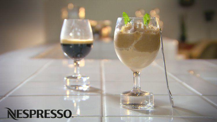 Café glacé met koffiesaus
