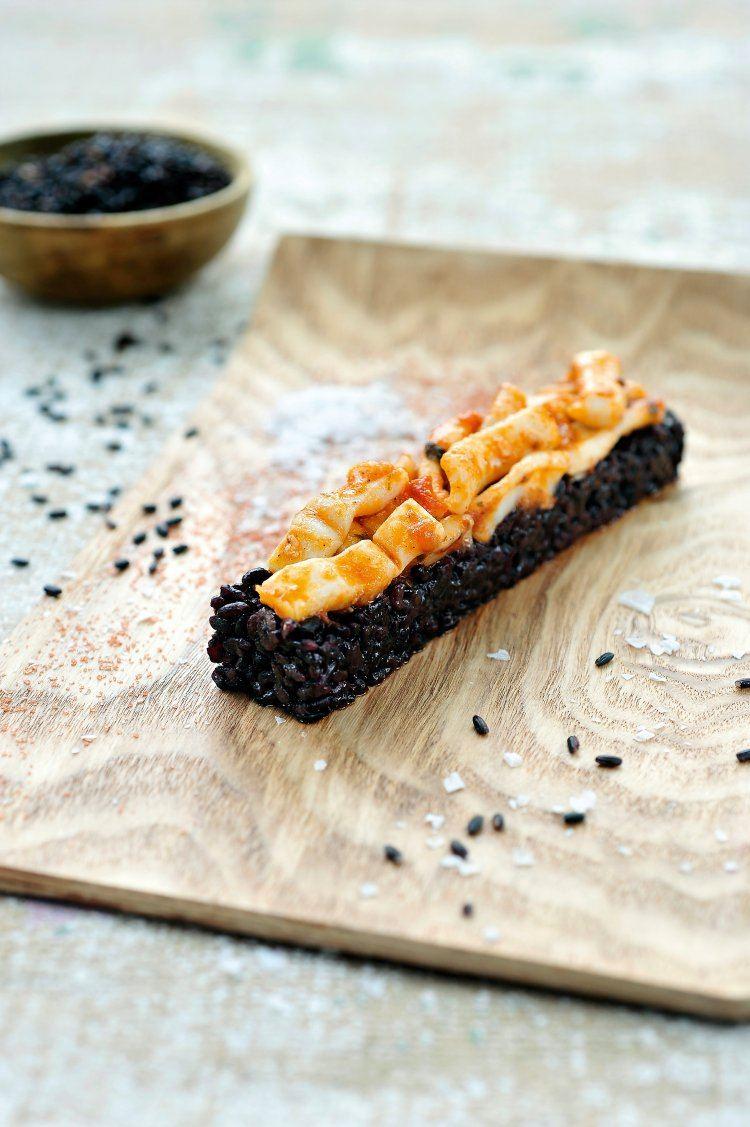 Zwarte risotto met inktvis