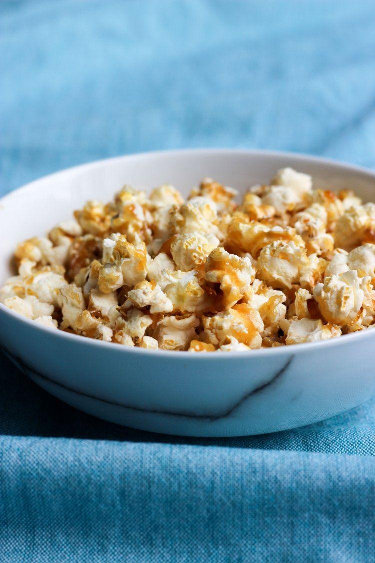 Popcorn met gezouten karamel