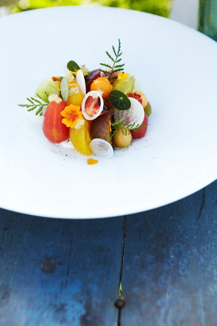 Eenvoudige tomatensalade