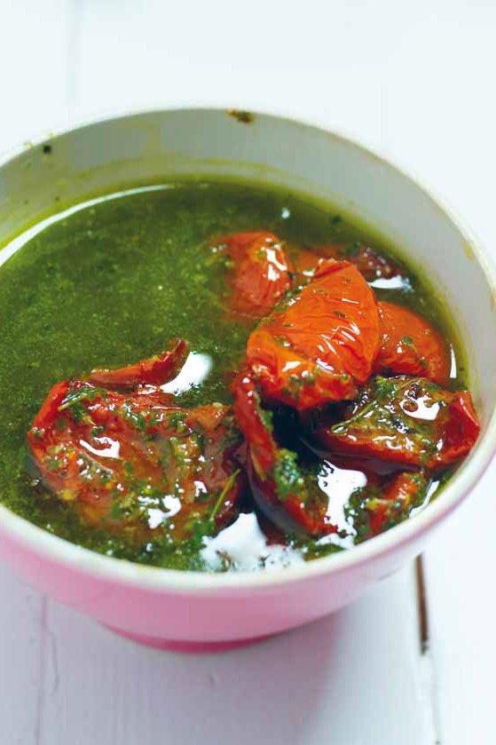 Halfgedroogde tomaten