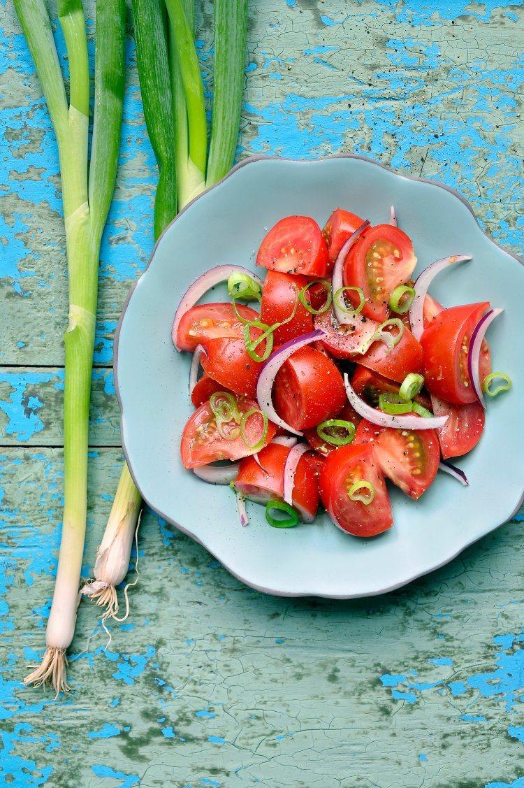 BBQ salades: tomatensalade