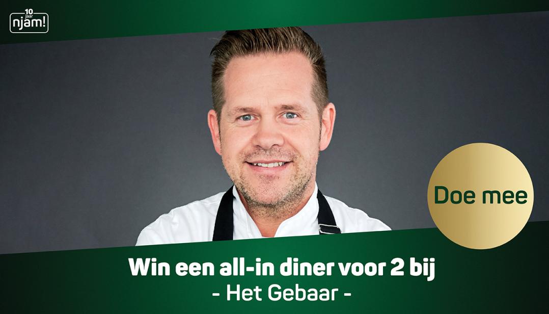 Win een all-in diner voor 2 personen bij Het Gebaar