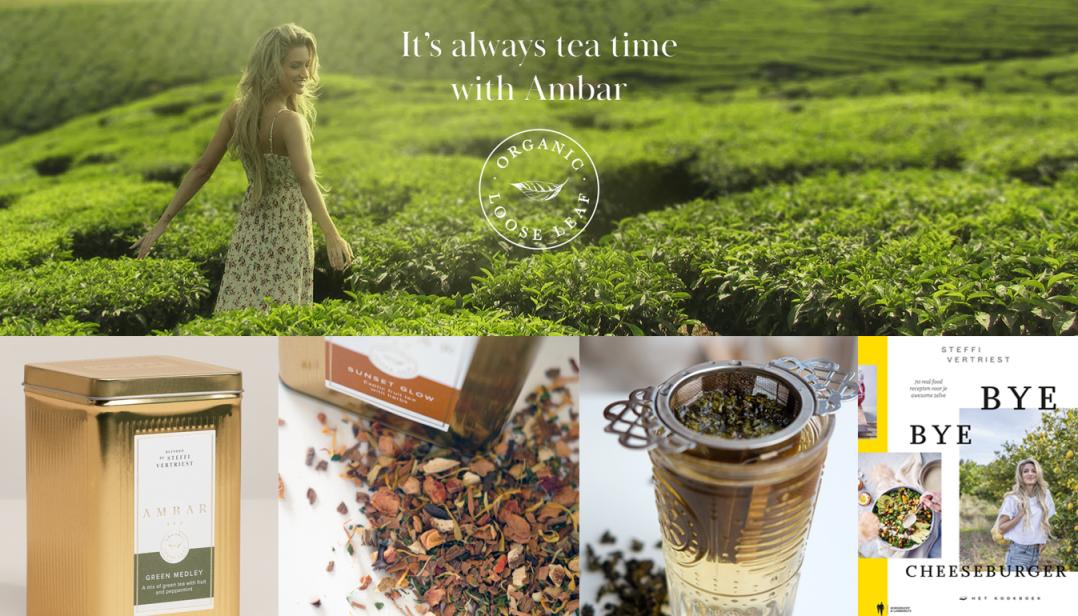Maak kans op een AMBAR theepakket met gloednieuw kookboek van Steffi Vertriest